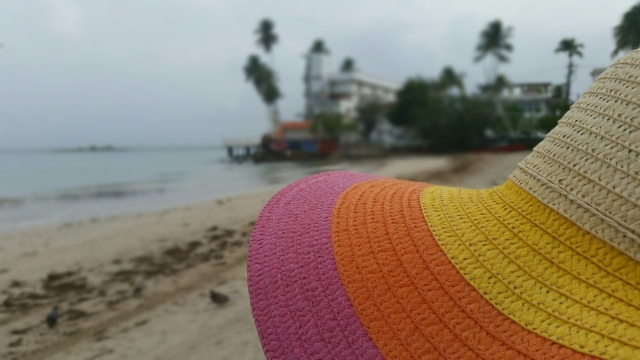 Beach hat in the sand 2015