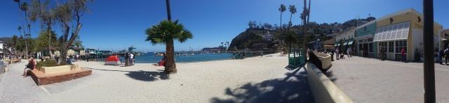 Panorama on the beach