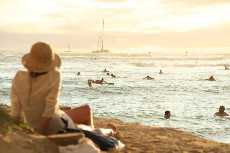 sea-beach-sunset-hawaii-waikiki